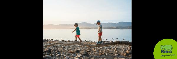 Children balancing using their vestibular system