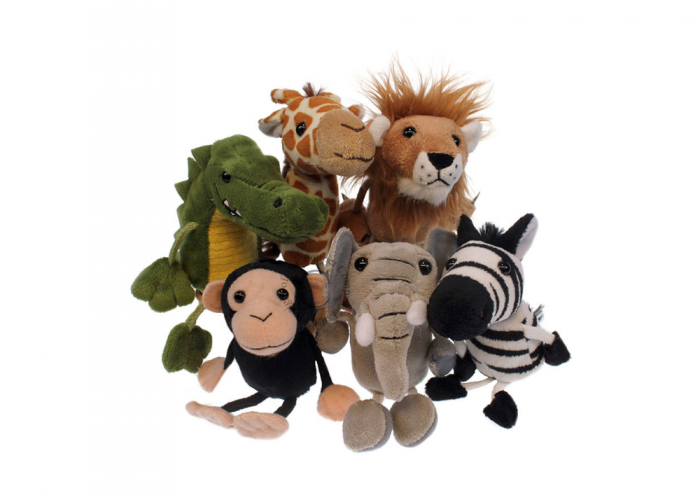 African Animals - Finger Puppets