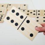 Wooden Dominoes Developmental Size 7.5 x 10 x 1.5cm