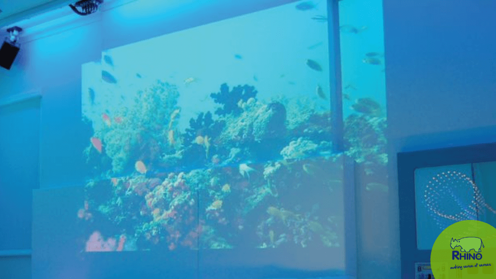 Under the Sea immersive room created by projection effects