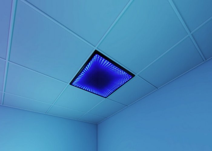 Infinity Tunnel Ceiling Tile