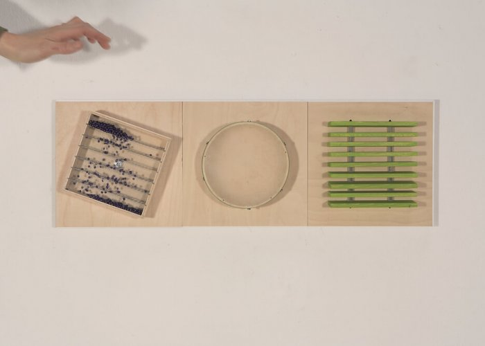 Acoustic Perception Tactile Wall Set B Multi-Sensory Equipment Size 90 x 30cm