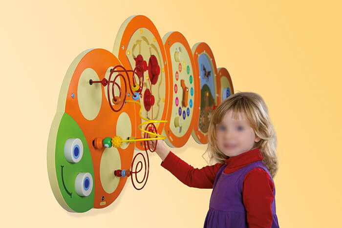 Caterpillar Wall Toy Set Community Areas Size 174 x 54cm