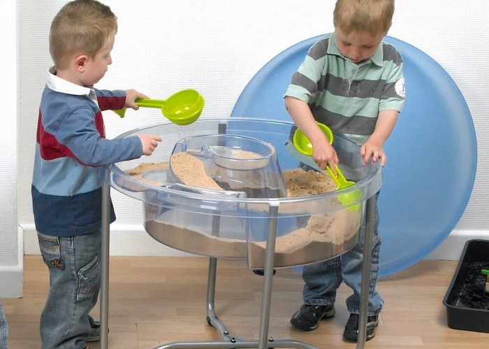 Circular Water & Sand Tray Community Areas Size H58 x D75cm