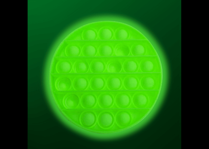 Glow In the Dark Push Pop Fidget – Circle Adult Sensory Resources Size 12.5cm