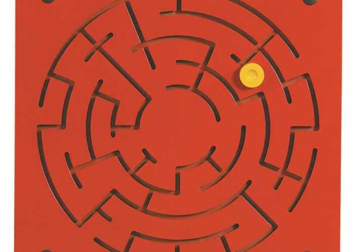 Labyrinth Activity Wall Panel Community Areas Size 40 x 40 x 1.8cm