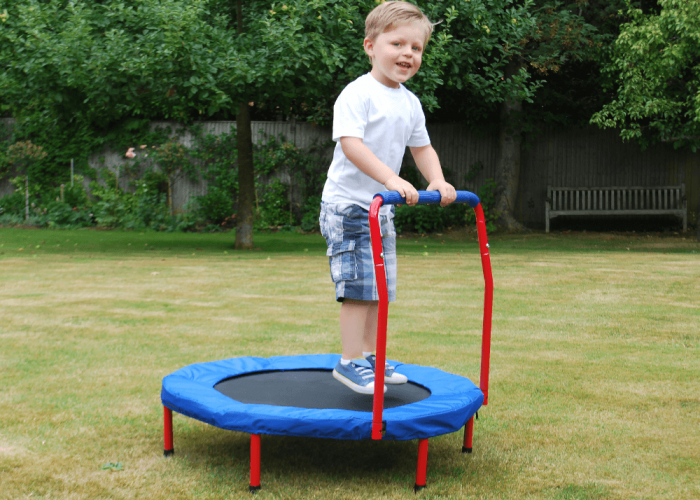 Mini Trampoline Gross Motor & Balance Size Dia 93, Handle H58, Base H23, Overall H80cm approx.
