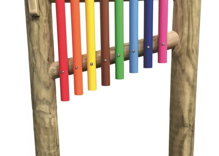Outdoor Chimes (Post Mounted) Community Areas Size H150 x L100 x D15cm