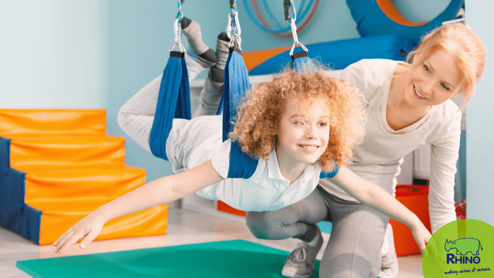 sensory integration therapy session with occupational therapist