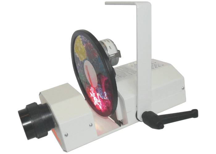 Solar 100 LED Projector Multi-Sensory Equipment Size L21.5 (without lens) x W12.5 x D8.1cm (22.5mm with hanging bracket).