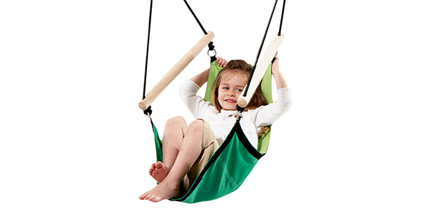 child enjoys a relaxing swing in the kids swinger