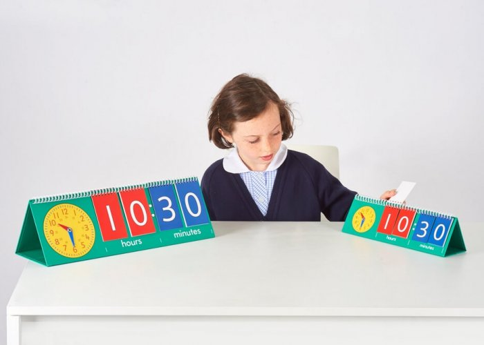 Tell Time Flip Chart Autism Resources Size Size: 53 x 18cm