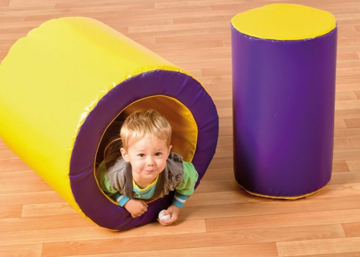 Tumble  & Roll Soft Play Size Outer Tube: L60 x Dia 60cm (Inside Dia 50cm) Inner Cylinder: L60 x Dia 40cm