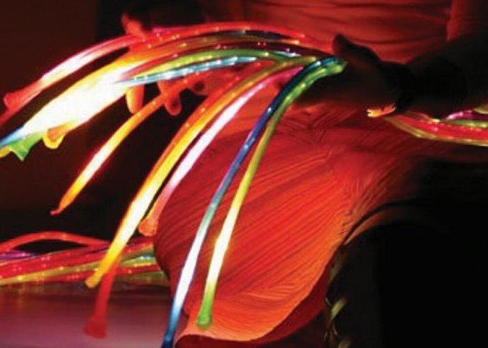 UV Jumbo Fibre Optic Side Glow 15Tails 2m Multi-Sensory Equipment