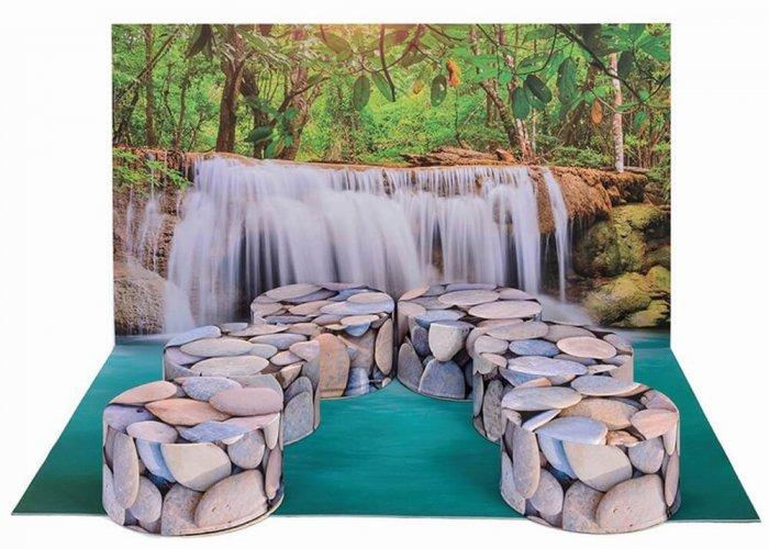Waterfall Corner Multi-Sensory Equipment Size 150 x 100cm
