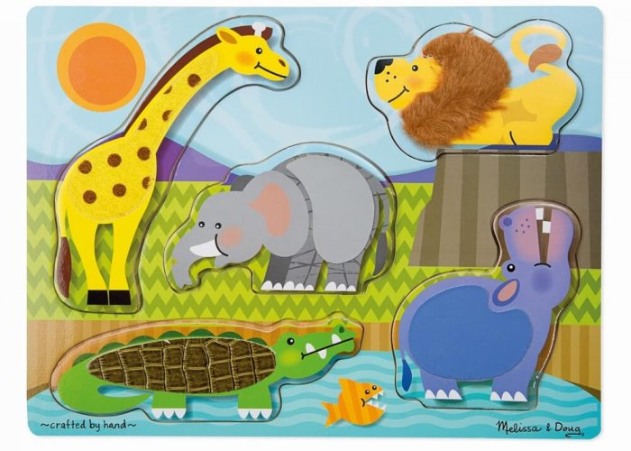 Zoo Animals Touch & Feel Puzzle Developmental